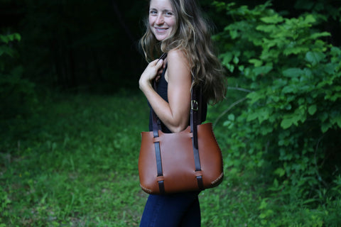 The Forest Tote in Ochre cordoban water buffalo