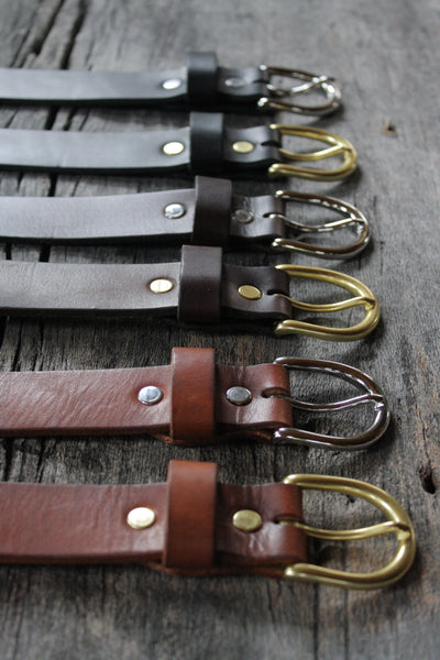 "Classic 1.25"" Handmade Leather Belt"