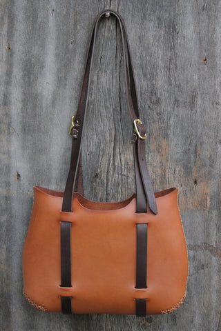 The Forest Tote in Honey Brown