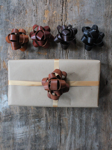 Handmade leather bow