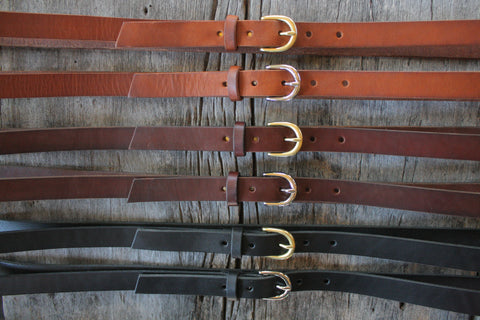 "Classic 3/4"" Handmade Leather Belt"