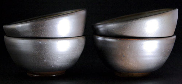 Pair of woodfired  bowls in espresso.