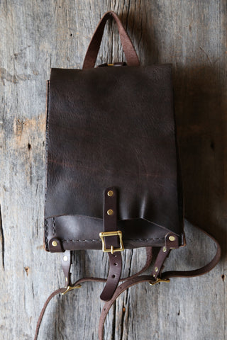 Soft cowhide backpack