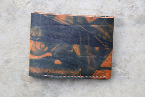 indigo dyed wallet no. 1