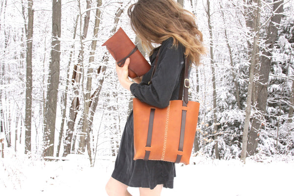 Rugged Tote in ochre Water Buffalo