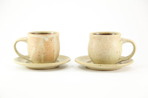 Pair of espresso cups in matte glaze
