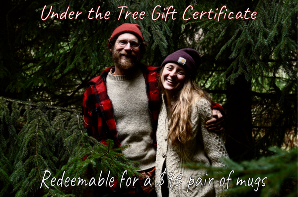 Gift certificate for a $96 pair of mugs