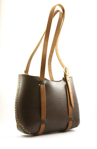 The Forest Tote in Chocolate Brown