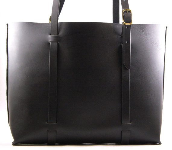 Classic Large Tote in Black Cordoban Water Buffalo Leather