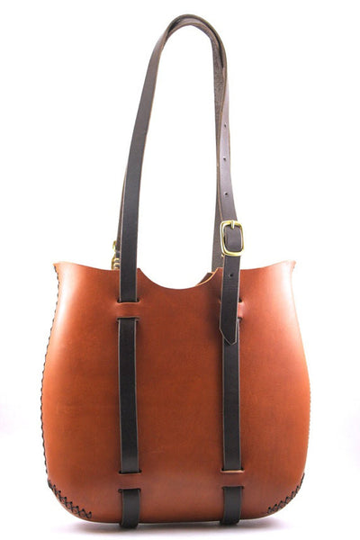 The Tall Forest Tote in Cherrywood Red