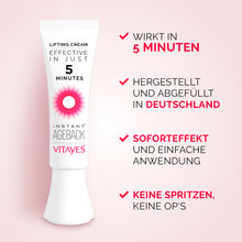 Instant Ageback - Lifting Creme  (7ml) mit Sofortwirkung | BUNTE DEAL