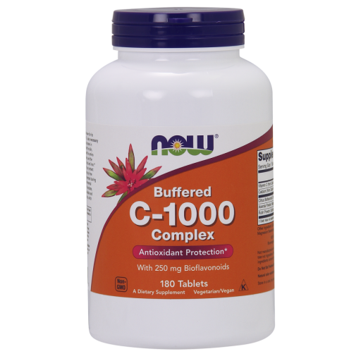 C-1000 Complex (Buffered C) 180 tabs by NOW Foods