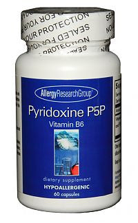 Pyridoxine P5P (B-6), 60ct Caps by Allergy Research Group