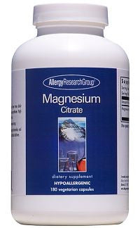 Magnesium Citrate, 180ct Caps by Allergy Research Group