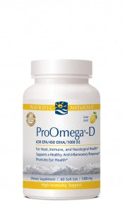 ProOmega-D 1000mg/Lemon 120ct Soft Gels by Nordic Naturals