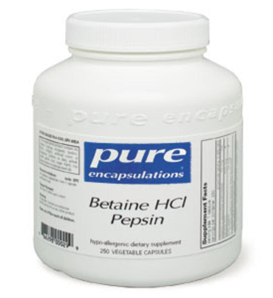 Betaine HCL Pepsin 250ct by Pure Encapsulations