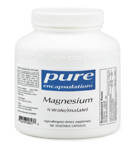 Magnesium (citrate/malate) 180ct by Pure Encapsulations