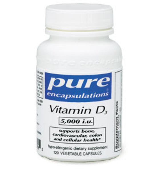 Vitamin D3 5000 i.u. 120ct by Pure Encapsulations