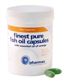 Finest Pure Fish Oil Capsules 120 Caps by Seroyal - Pharmax