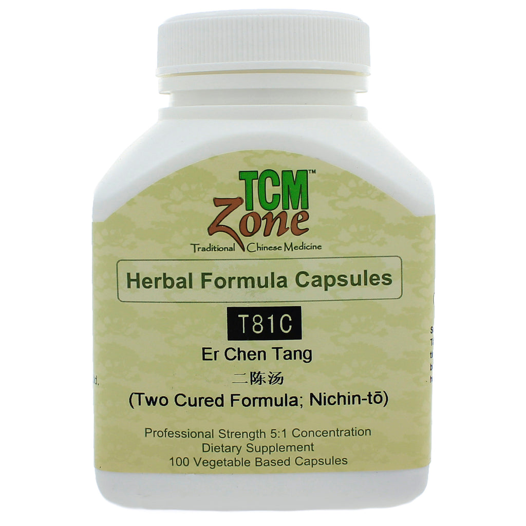 T81 Two Cured Formula, Er Chen Tang 100 vcaps by TCMzone