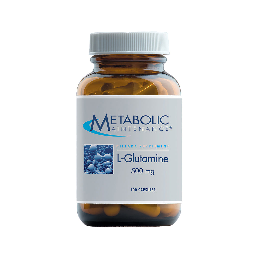 L-Glutamine 500 mg caps 100ct by Metabolic Maintenance