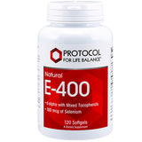 E-400 120 gels by Protocol For Life Balance