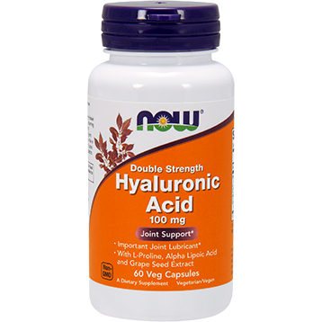 Hyaluronic Acid 100 mg 60 vcaps by NOW Foods