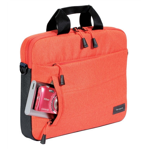 "Targus 斜揹袋 13"" Groove X    Slimcase for MacBook® (Fiesta Orange) - Young Vision - www.yv.com.hk"