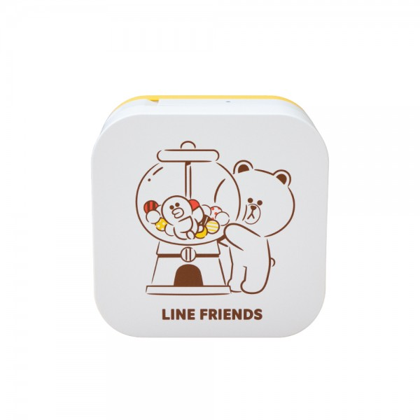 Brother PT-P300BTLB LINE FRIENDS P-touch Cube 藍牙標籤機 Bluetooth Label Printer for Smartphones/iPad (iOS/Android) - Young Vision - www.yv.com.hk