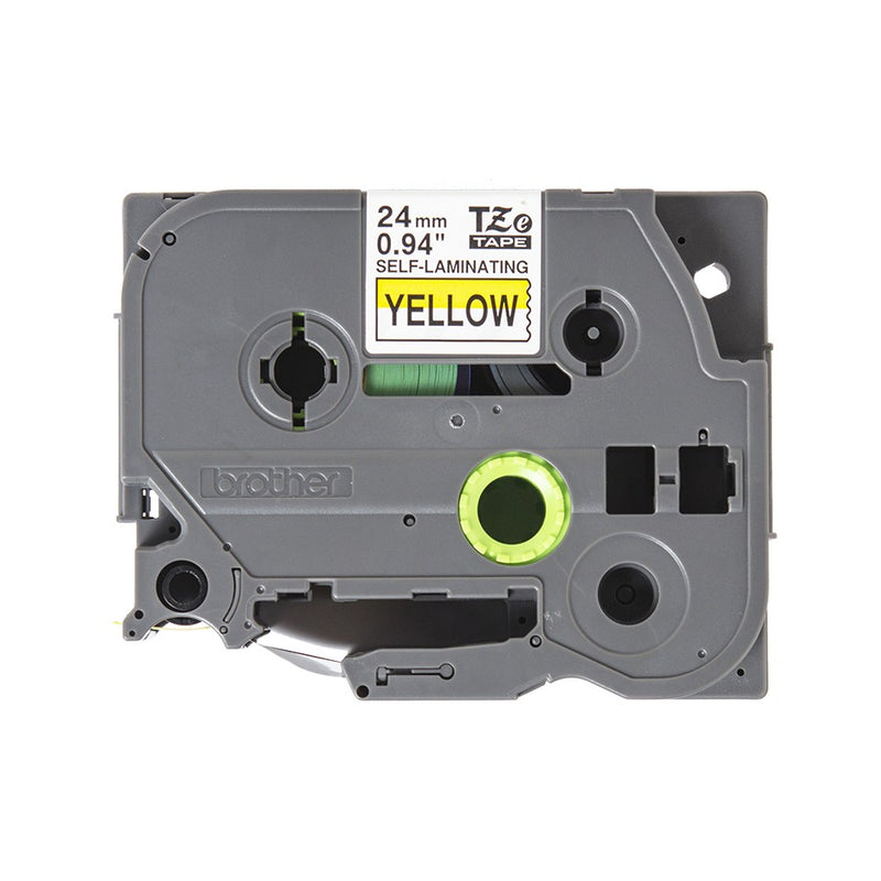 Brother TZe-SL651 (24mm) Self-Laminating label tape for cables (Black on Yellow) 覆貼型已過膠線纜標籤帶(黃底黑字)