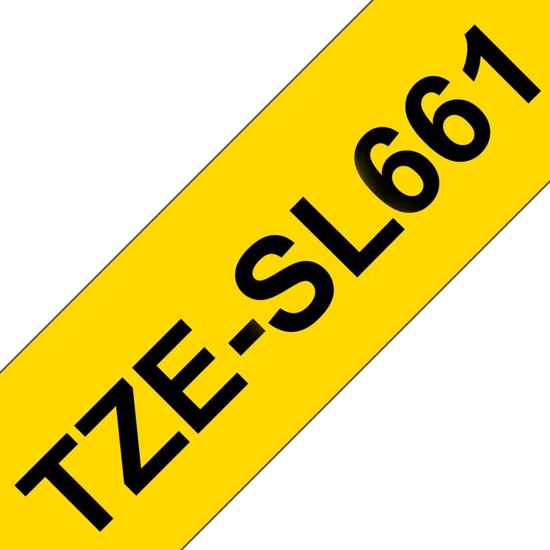 Brother TZe-SL661 (36mm) Self-Laminating label tape for cables (Black on Yellow) 覆貼型已過膠線纜標籤帶(黃底黑字)
