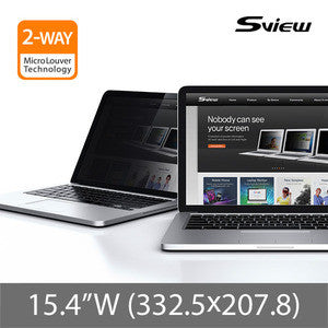 "S-View SPFAG2-15.4W 抗藍光螢幕防窺片 (332.5x207.8mm) Privacy Filter with Blue light cut for 15.4"" Notebooks (16:10)"