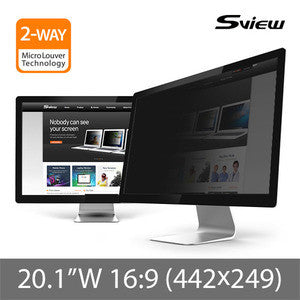 "S-View SPFAG2-20.1W9 抗藍光螢幕防窺片 (442x249mm) Privacy Screen Filter with Blue light cut for 20.1"" Monitors (16 : 9)"