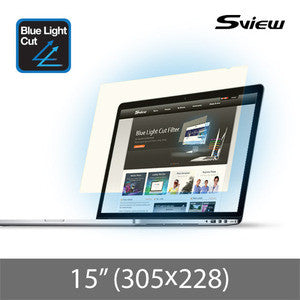 "S-View SBFAG-15 抗藍光濾片 (305x228mm) Blue Light Cut Screen Filter for 15"" Notebooks (4:3) - Young Vision - www.yv.com.hk"