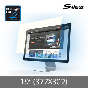 "S-View SBFAG-19 抗藍光濾片 (377x302mm) Blue Light Cut Screen Filter for 19"" Monitors (5 : 4) - Young Vision - www.yv.com.hk"
