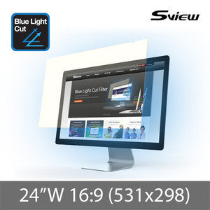 "S-View SBFAG-24W9 抗藍光濾片 (531x298mm) Blue Light Cut Screen Filter for 24"" Monitors (16 : 9) - Young Vision - www.yv.com.hk"