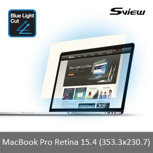 "S-View SBFAG-MPR15.4 抗藍光濾片 (353.3x230.7mm) 15.4"" Blue Light Cut Screen Filter for MacBook Pro Retina 15.4 - Young Vision - www.yv.com.hk"