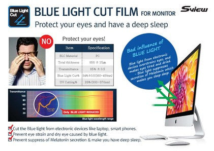 "S-View SPFAG2-24W9 抗藍光螢幕防窺片 (531x298mm) Privacy Screen Filter with Blue light cut for 24"" Monitors (16 : 9) - Young Vision - www.yv.com.hk"