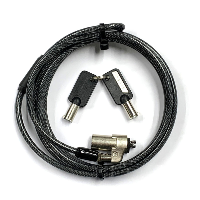 KUHVUR Laptop Computer Cable Lock - Keyed - Ultra-Slim - for Dell Noble Wedge Slot  (3.2x4.5mm) 筆記簿電腦鎖