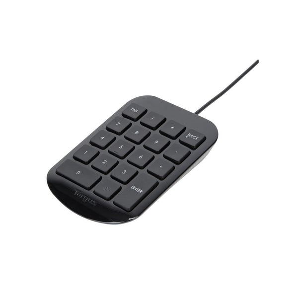 Targus AKP10 USB Numeric Keypad - Piano Black (Mac/PC) 黑潮數字鍵盤 - Young Vision - www.yv.com.hk