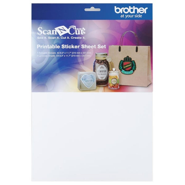 Brother ScanNCut 配件 CAPSS1 可打印貼紙耗材套件 Printable Sticker Sheet Set - Young Vision - www.yv.com.hk