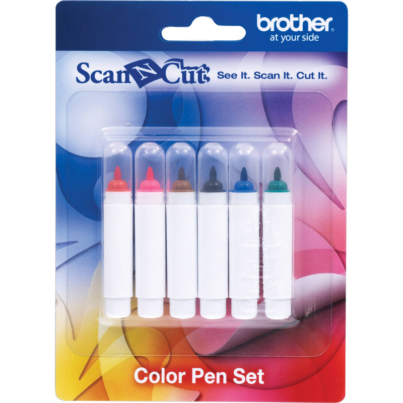 Brother ScanNCut 配件 CAPEN1 彩色筆套裝 6 Color Pen Set - Young Vision - www.yv.com.hk