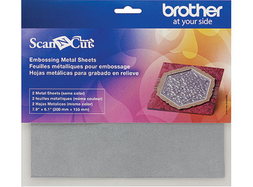 Brother ScanNCut 配件 CAEBSSMS1 壓花金屬膜片 (銀色) Embossing Silver Metal Sheets - Young Vision - www.yv.com.hk
