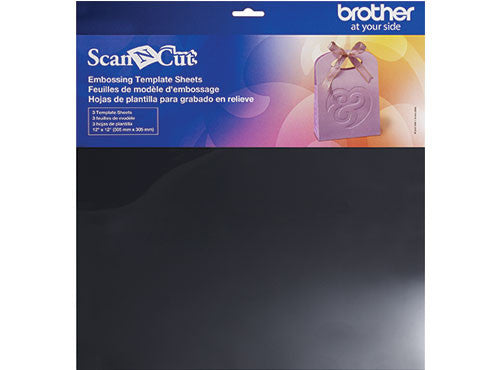 Brother ScanNCut 配件 CAEBSTS1 壓花模板 Embossing Template Sheets - Young Vision - www.yv.com.hk
