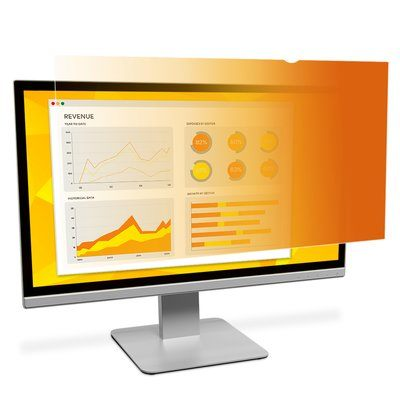 "3M GF24.0W9B Gold Privacy Filter for 24"" (531mm x 299mm) Widescreen Monitor 16:9 - Young Vision - www.yv.com.hk"