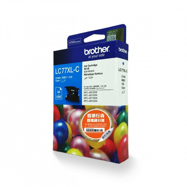 Brother LC77XL 墨盒 Ink Cartridge (適用型號 MFC-J5910DW, MFC-J6510DW, MFC-J6710DW) - Young Vision - www.yv.com.hk