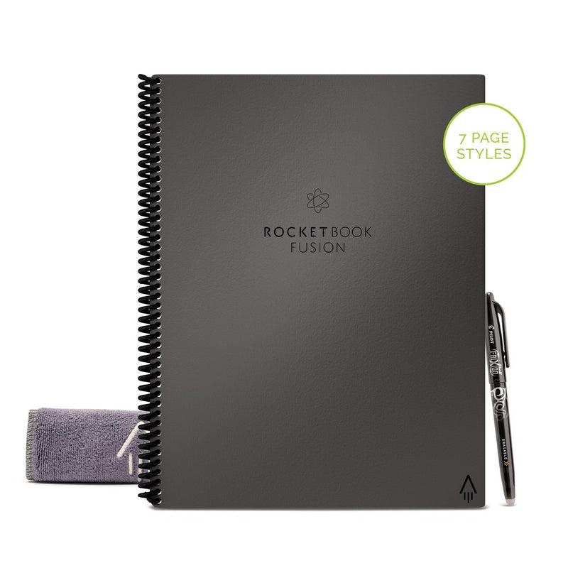 Rocketbook - Fusion Organizer 可循環再用雲瑞筆記本  |  7 Styles 42 pages  |  Pilot FriXon Pen x 1  |  Microfiber Towel x 1