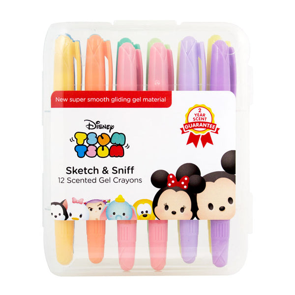 DISNEY : TSUM TSUM - GEL CRAYONS (SET OF 12) DT2512 - Young Vision - www.yv.com.hk