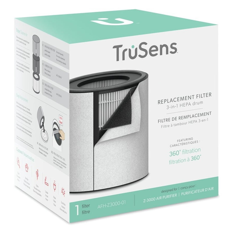 TruSens Z3000 3-In-1 Replacement Filter - HEPA Drum, Pre-Filter & Activated Carbon Layer - Young Vision - www.yv.com.hk