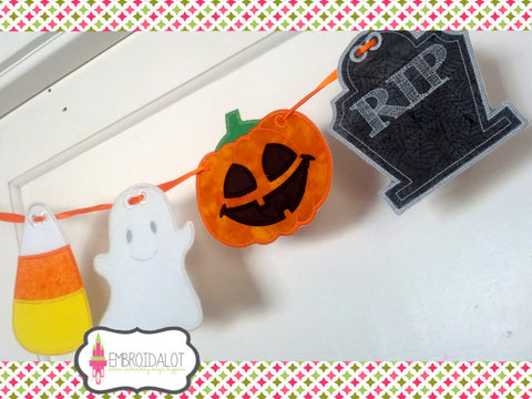 Halloween bunting, all FOUR shapes.